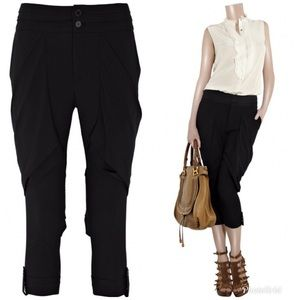 Alice + Olivia Black Button Cuff Harem Zen Pants 2